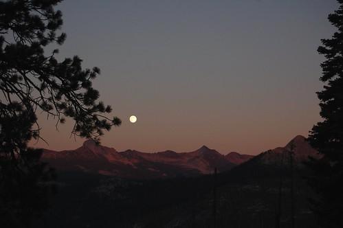 Moon rise at Glacier Point Yosemite National Park California