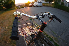 Surly Big Dummy on Beacon at Sunset (Dapper Lad Cycles) Tags: seattle sunset summer bike bicycle bell pentax salsa surly beacon mavic 2010 nitto chrisking cargobike bigdummy k20d custombikerack