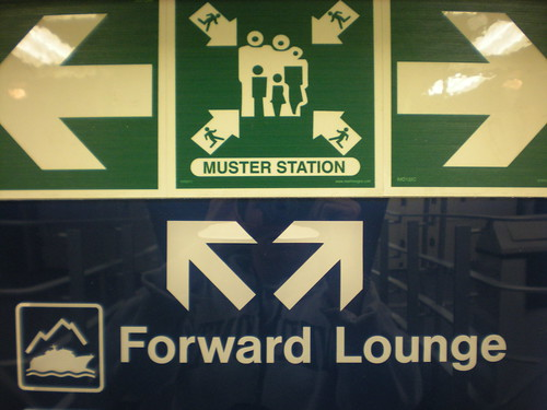 Alaska ferry sign