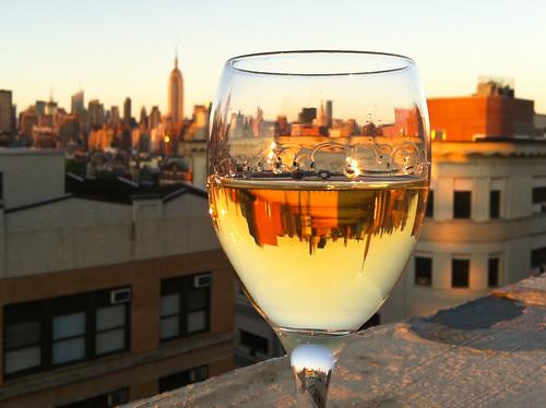 New York Skyline in a Glass