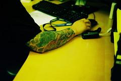 Rudy (Taylor Gilmore) Tags: camera film work 35mm 50mm gold nikon arm photos kodak right tattoos full 200 roll af sleeve n2020