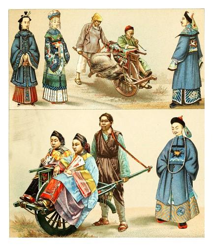 014.Transporte en China -Geschichte des kostüms in chronologischer entwicklung 1888- A. Racinet