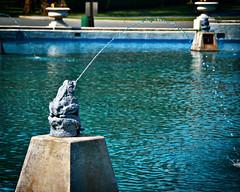 Ribbit (Singing With Light) Tags: blue green water fountain jerseycity baseball pentax nj lincolnpark jjp k200d ribbitjjpk200dlincolnparknjbaseballfountaingreenjerseycitypentaxwater