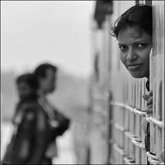 girl on a train (cisco ) Tags: trip portrait bw india girl train square occhi sguardo cisco soul karnataka glance ritratto bianconero hubli bienne 500x500 photographia photographia saariysqualitypictures elitegalleryaoi flickrawardgallery
