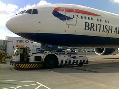 Our first long-range super fuel efficient Boeing 777-300ER takes to the skies (BritishAirways) Tags: ba boeing britishairways 777300er
