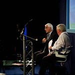 Alistair Darling talking to Brian Taylor