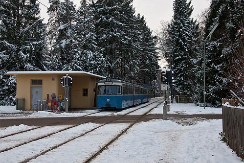 Winterstimmung am Grünwalder Parkplatz
