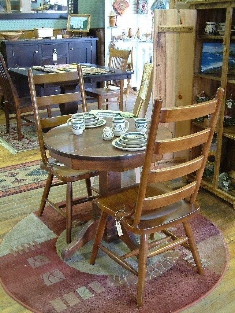 Barn Board Single Pedestal Table