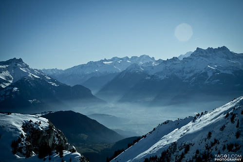 Schweizer Alpen Panorama - Layers / yago1.com Yago Veith - Switzerland