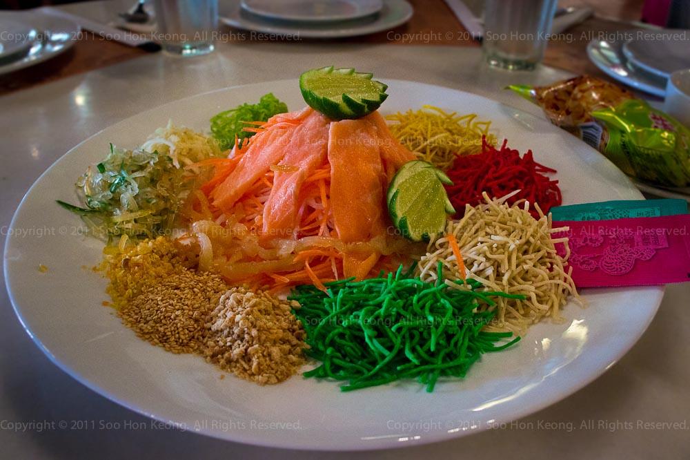 Yee Sang @ Good Evening Bangkok Restaurant, 1Utama, KL, Malaysia