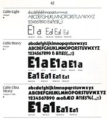 Letraset Cable (Stewf) Tags: type:foundry=letraset drytransferlettering letraset type:face=cable fonts typefaces