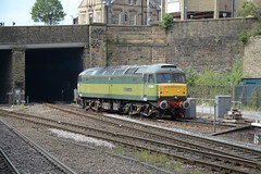 """BR Two-Tone Green Class 47/8, 47830 / D1645 """"Beeching's Legacy"""" (37190 """"Dalzell"""") Tags: freightliner celebrityrepaint br britishrailways twotone green brush sulzer type4 duff spoon class47 class478 47830 beechingslegacy 47649 47061 d1645 huddersfield"""