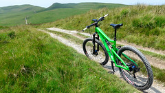 The Long and Winding Road (Gee & Kay Webb) Tags: mtb mountainbike bike bicycle cycling riding trails road santacruz bronson syfidrintrail cambrianmountains wales