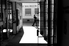 Balingen (Leica M6) (stefankamert) Tags: stefankamert street balingen city town bw baw bnw blackandwhite leica m6 leicam6 blurry summitar ilford fp4 grain shadow shadows rangefinder film analog