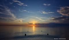 Gentle Breeze (mswan777) Tags: sunset glow sky cloud evening summer beach piling water waves scenic quiet wind lake michigan stevensville nikon d5100 sigma 1020mm nature outdoor coast shore