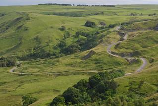 Abandoned Road (A625) Peak District National Park, Derbyshire, England.