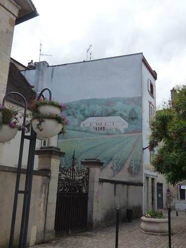Place Félix Ziem, Beaune - mural - Le Bistrot du Coin