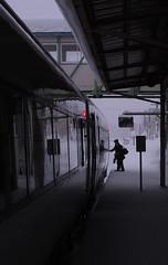 Frozen Stop (okirob photo) Tags: japan niseko cold conductor snow train hokkaido winter robertmallon
