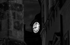 (nihilnocet) Tags: canoneos700d tamronaf70300mmf456dildmacro nihilnocet prag prague praha praga atmosphere nightimages night nightlight enigmatic clock nocolor melancholy monochrome miasto monotone bw blackwhite architecture city cityscenery cityscape nightcity