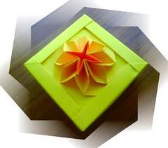 New origami flower box (katrins18) Tags: flower origami box caja scatola boite caixia