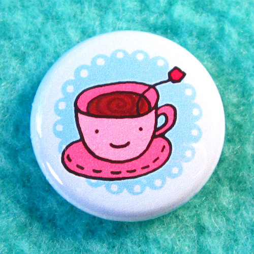 Tea Party Buttons Set 6