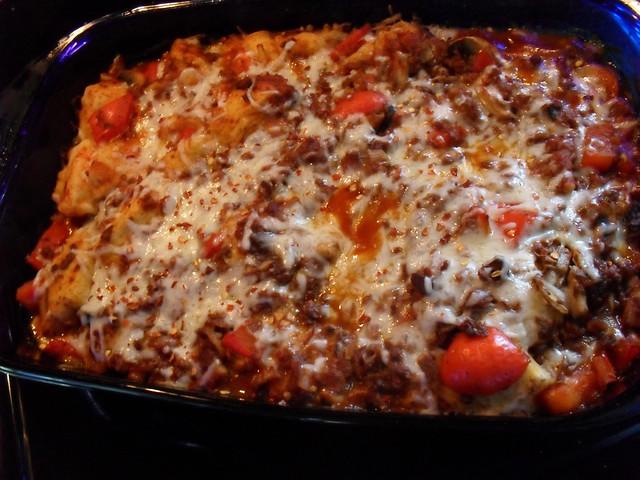 Vegetarian Bubble Up Pizza Casserole | Saucy & Bossy
