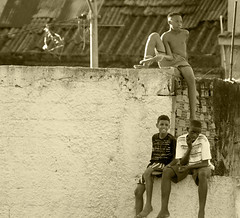Local Supporters - Sampaio,  Rio De Janiero, Brazil (kigwa) Tags: poverty brazil people southamerica brasil youth football favela sampaio riodejaniero kigwa