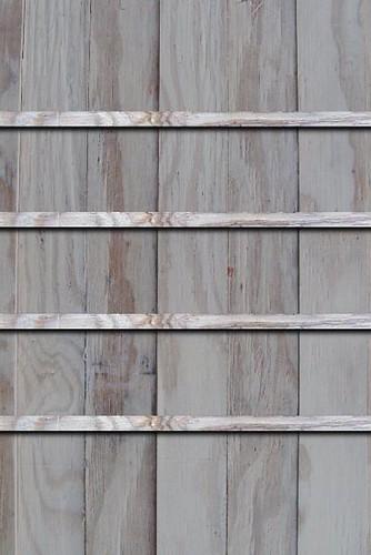 灰色の木の棚