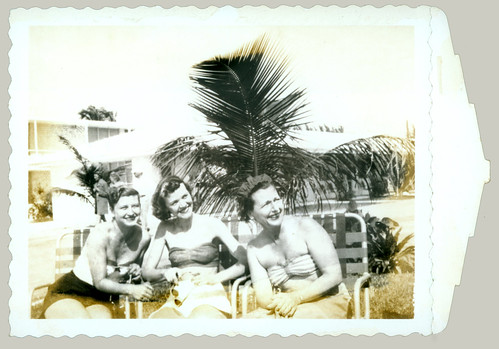 Three women at the beach