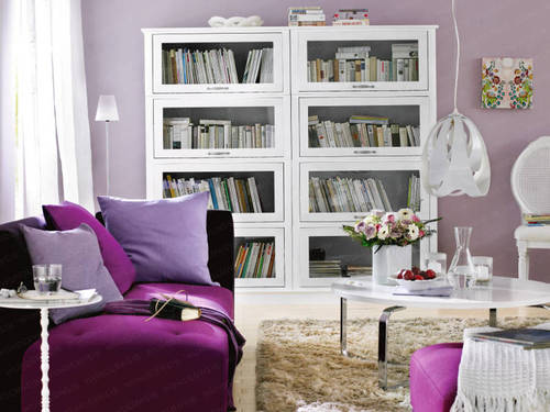 Purple interior design, home interior design, via wunderweib.de