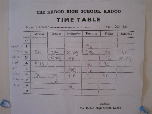 a kadod high school timetable