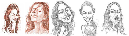 Megan Fox  sketch studies 1