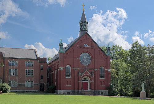 Former Ursuline Academy, in Ironton, Missouri, USA - exterior of chapel