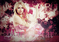 BS (mythingthings) Tags: pink black abbey photoshop dawn star design perfume skin thing go estrela under rosa preto best damn avril let blend lavigne blackstar avrillavigne letgo undermyskin thebestdamnthing abbeydawn