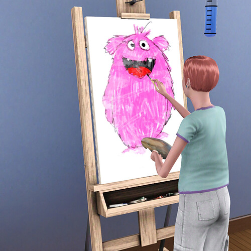 Lenora paints the perfect painting