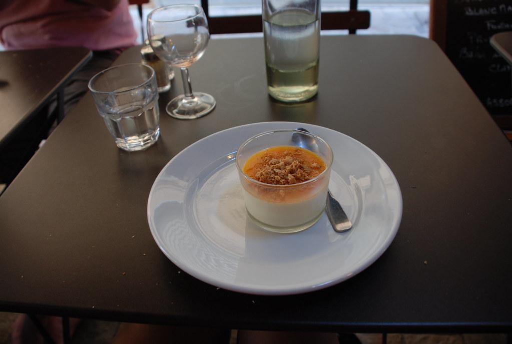 blanc manger with apricot at Aux Bons Enfants