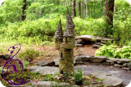 Lavender farm fairy house