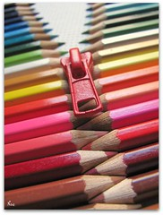 ZIP!! (Pink Flutterby   OFF) Tags: life wood pink blue red brown white black color colour cute green colors yellow pencil pencils canon pull grey wooden rainbow colorful aqua colours dof sweet vivid powershot sharp explore zipper colourful crayons crayon lead nib zip sharpened pencilcrayons shapen sx120is sx120
