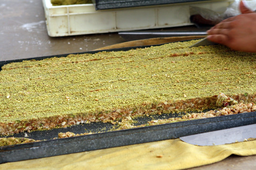 making Tunisian pastries