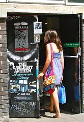 Hanbury Street (Lou Morgan) Tags: uk england london girl female model dress market release gingham teen teenager bricklane released birkenstocks primark birkis modelreleased louisemorgan gaslightanthem sundayup