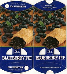 1984 McDonald's Blueberry Pie box (daniel85r) Tags: mcdonalds 80s