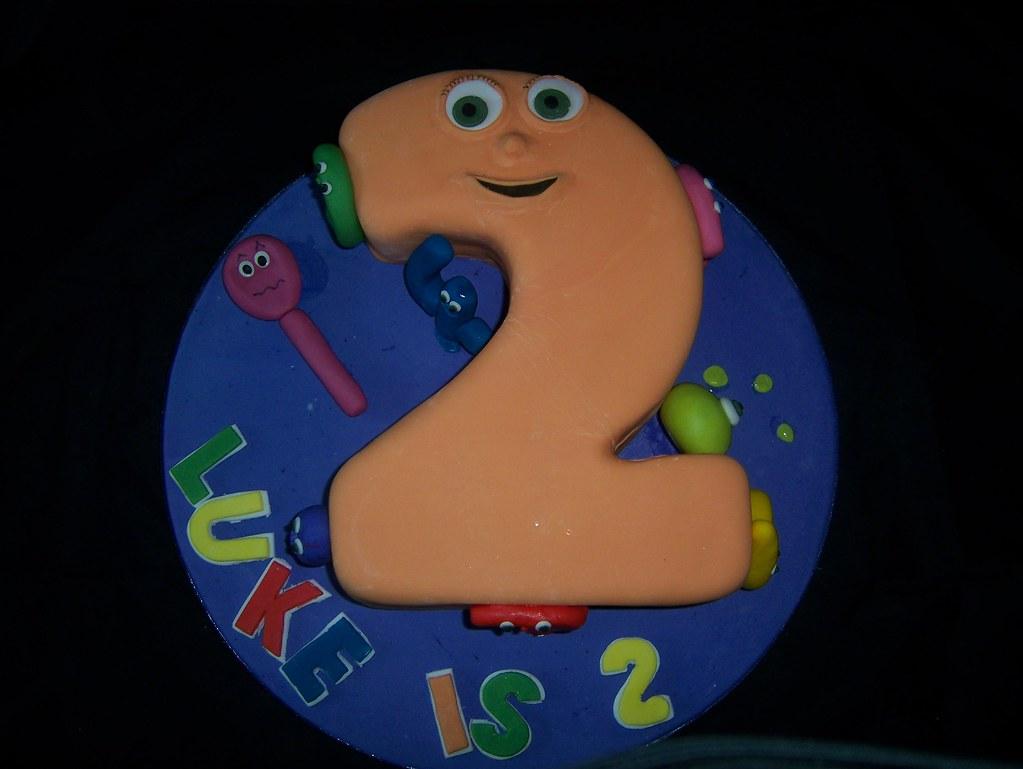 Numberjacks Birthday Cake