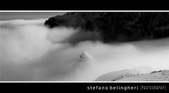 cima verde in fumo (stefano.belingheri [PHOTOGRAPHY]) Tags: verde bn e neve nebbia inverno bianco nero sci cima presolana colere