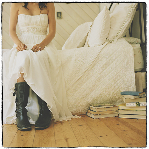 wedding dress w boots Lorraine Venberg Tags wedding dress with boots