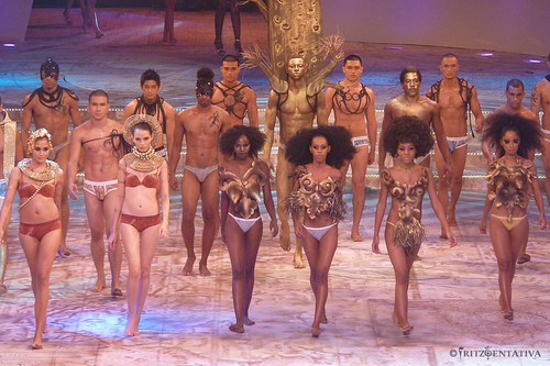 The underwear models who did the Africa segment.
