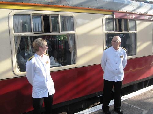 Pullman Dining - Stewards on the Heritage Train (UK)