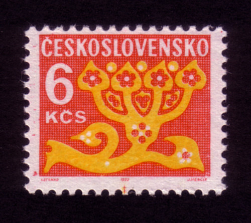 Ceskoslovensko 6k stamp (1972)