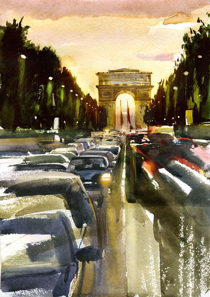 Париж, Елисейские поля