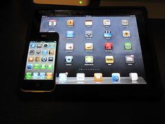 iPad vs iPhone 4 screen