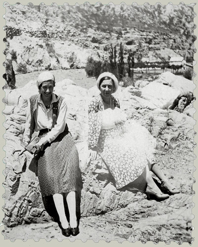 Two girls on the rocks